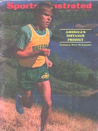 Steve Prefontane on the cover of Sports Illustrated