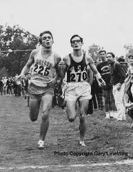 Pre and Gerry Lindgren in perfect step.  November 14, 1969 First  Pac 8 Champs